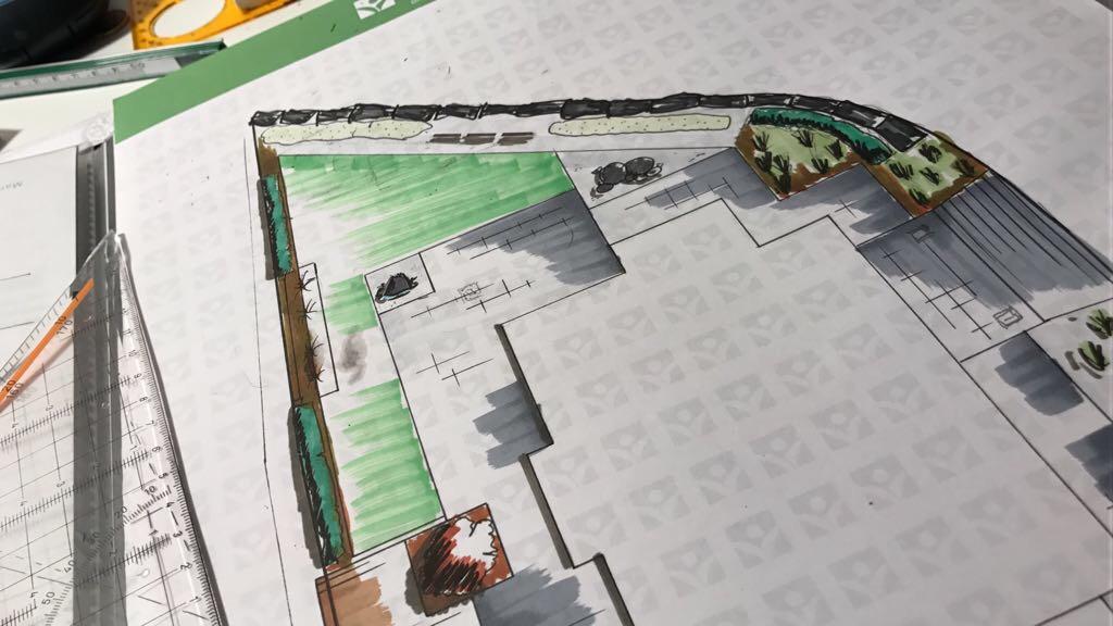 Gartenzeichnung detalliert