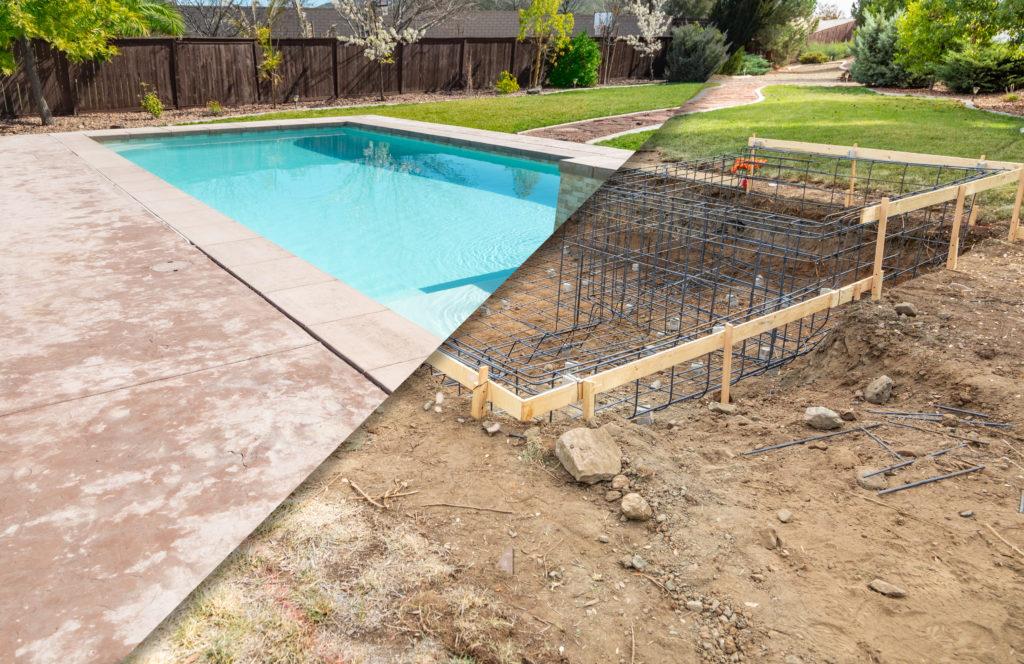 Pool und Fertigungsprozess
