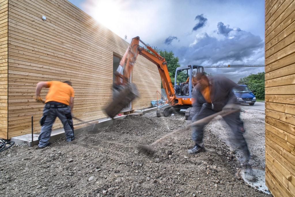 Bauarbeiter am Werk